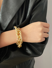 Fashion Golden Threaded Chain Frosted Alloy Bracelet