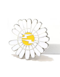 35 * 35mm Lightning Daisy Little Daisy Lightning Color Couple Brooch
