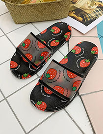 Fashion Strawberry With Black Fruit Fruit Sandals