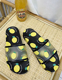 Fashion Pineapple With Black Fruit Fruit Sandals