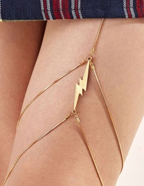Fashion Golden Alloy Lightning Thigh Chain