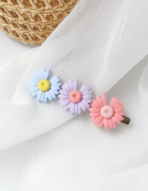Fashion Three Flowers (pink Violet Blue) Daisy Duck Clip