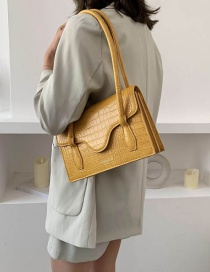 Fashion Yellow Stone Shoulder Shoulder Bag