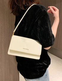 Fashion White Hot Letters Bright Face Shoulder Bag