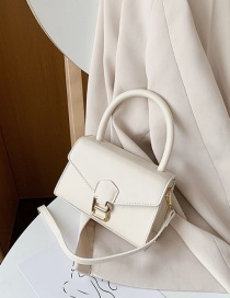 Fashion White Letter B Portable Shoulder Bag
