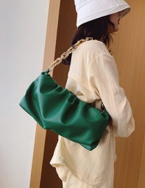 Fashion Green Folding Chain Shoulder Bag