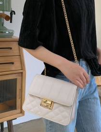 Fashion White Diamond Chain Single Shoulder Bag