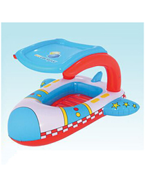 Fashion Color Children's Boat Shade Swimming Ring Aircraft Mount