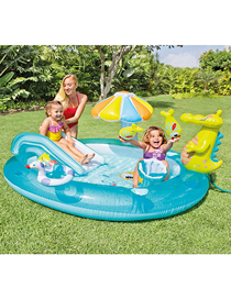 Fashion Separate Pool Inflatable Baby Swimming Pool In Crocodile Park