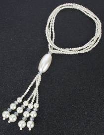Fashion Rice White Necklace Pearl Clavicle Chain Jewelry