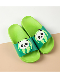 Fashion Panda Fruit Animal Hit Color Non-slip Soft Bottom Word Children Slippers
