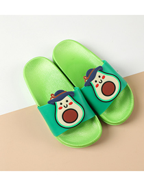 Fashion Avocado Fruit Animal Hit Color Non-slip Soft Bottom Word Children Slippers