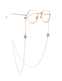 Fashion Red Metal Color-preserving Small Daisy Glasses Chain