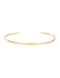 Fashion 14k Gold Stainless Steel C-shaped Opening Bracelet