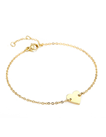 Fashion 14k Gold Love Chain Adjustable Bracelet