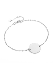 Fashion Steel Color Geometric Large Round Chain Adjustable Bracelet