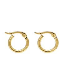 Fashion Golden Round Hypoallergenic Stainless Steel Earrings
