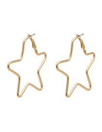 Fashion Star Polygonal Geometric Stars Love Alloy Earrings