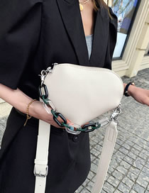 Fashion White Acrylic Chain Shoulder Strap Crossbody Bag