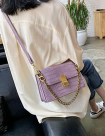 Fashion Purple Serpentine Chain Buckle Shoulder Bag