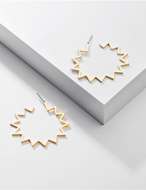 Fashion Golden Geometric Sun Alloy Earrings