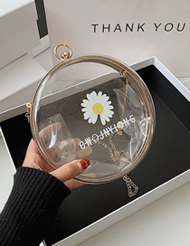Fashion White Acrylic Transparent Waterproof Chain Small Daisy Shoulder Bag