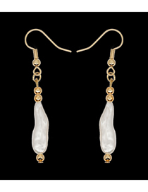 Fashion Golden Natural Freshwater Pearl Gold-plated Earrings