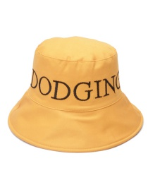 Fashion Mango Yellow Letter Embroidered Double-sided Fisherman Hat