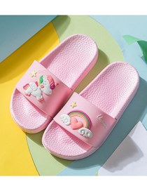 Fashion Pink Unicorn Slippers Rainbow Unicorn Children S Sandals And Slippers