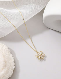 Fashion Necklace Shell Hollow Daisy Zircon Alloy Earring Necklace