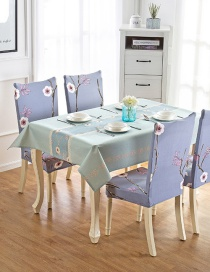 Fashion Winter Flower (120 * 120cm Without Chair Cover) Printed Dustproof And Waterproof Household Tablecloth