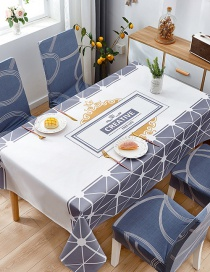 Fashion Artistic Stripes (120 * 120cm Without Chair Cover) Printed Dustproof And Waterproof Household Tablecloth