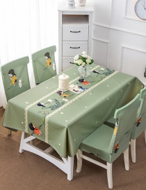 Fashion Little Girl (140 * 180cm Without Chair Cover) Printed Dustproof And Waterproof Household Tablecloth
