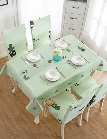 Fashion Cactus (140 * 210cm Without Chair Cover) Printed Dustproof And Waterproof Household Tablecloth