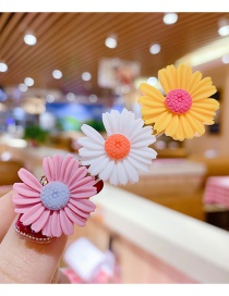 Fashion Pink + White + Yellow Little Zou Ju Hit The Color Resin Alloy Hairpin Set