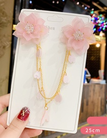Fashion Dark Pink Flower Resin Crystal Love Chain Forehead With
