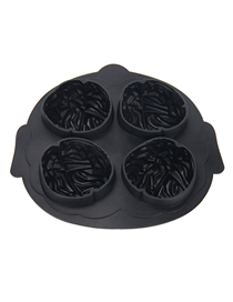 Fashion Black Four-hole Silicone Ice Mould For Brain Modeling