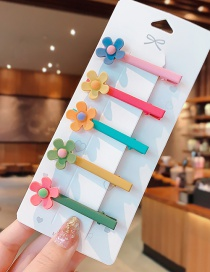 Fashion Small Flower Suit Animal Fruit Resin Alloy Hit Color Children Hairpin