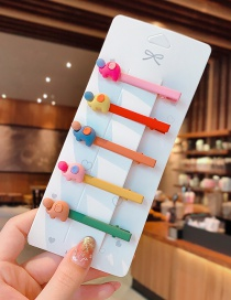 Fashion Baby Elephant Set Animal Fruit Resin Alloy Hit Color Children Hairpin