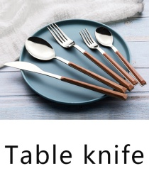 Fashion Imitation Original Wood Grain Table Knife Grain Stainless Steel Imitation Marble Grain Knife And Fork Spoon