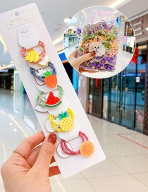 Fashion 10 Pineapple And Watermelon Bags Candy Animal Fruit Flower Contrast Elastic Hair Rope