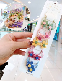 Fashion 10 Colored Flowers In Bags Candy Animal Fruit Flower Contrast Color Hair Rope