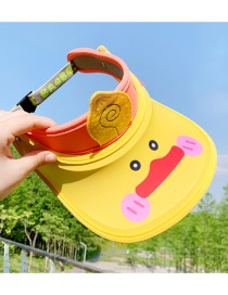 Fashion Little Yellow Duck 2 Years Old-12 Years Old Animal Color Stitching Adjustable Children S Sun Hat (45cm-56cm)