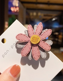 Fashion Pink Ash Daisy-hairpin Suede Daisy Hit Color Hairpin Hair Rope