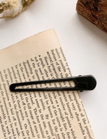 Fashion Black Duckbill Clip With Alloy Geometric Hollow And No Trace