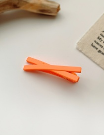 Fashion Orange Frosted Resin Cross Alloy Hairpin
