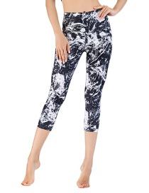 Pantalón Corto De Yoga Deportivo Con Estampado Tie-dye