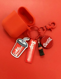 Fashion Coke + Red Headphone Case Coke Apple Bluetooth Wireless Headset Silicone Case (3rd Generation Pro)