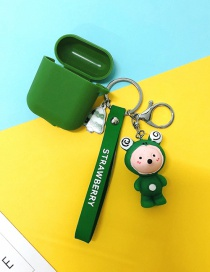 Fashion Frog + Army Green Headphone Case (1st Generation) Animal Apple Wireless Bluetooth Headset Silicone Case
