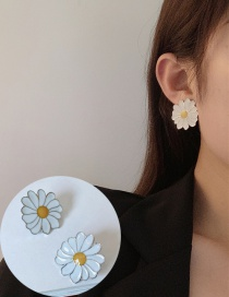 Fashion Stud Daisy Drop Oil Alloy Necklace Earrings Brooch